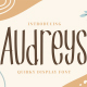 Audreys - Quirky Display Font - GraphicRiver Item for Sale