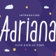 Adriana - Cute Display Font - GraphicRiver Item for Sale