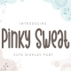 Pinky Sweat - Cute Display Font - GraphicRiver Item for Sale