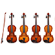 Four Realistic Vector Detailed Violins With Fiddlesticks - GraphicRiver Item for Sale