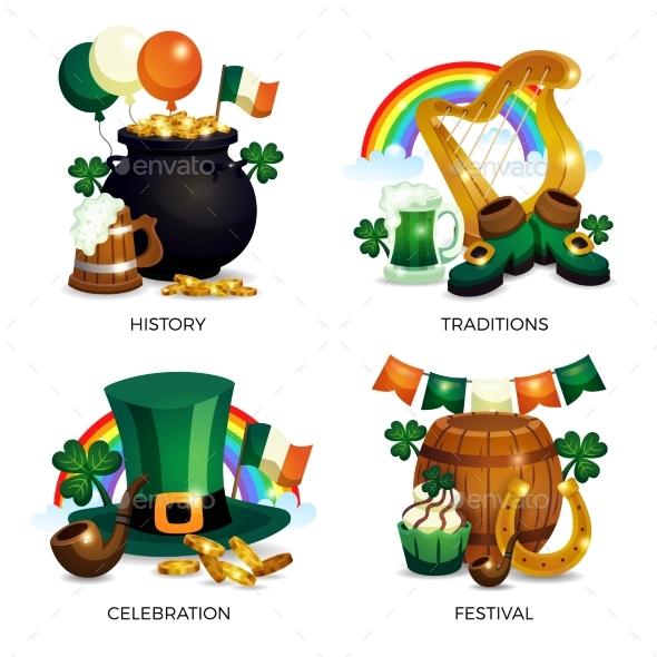 Saint Patricks Compositions Set