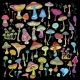 Background with Bright Decorative Mushrooms - GraphicRiver Item for Sale