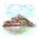 Coplored Pencils Sketch of Wurzburg - GraphicRiver Item for Sale