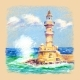 Lighthouse in Chania Crete Greece - GraphicRiver Item for Sale