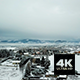 Aerial View of Snowy French Village and Mountains - VideoHive Item for Sale