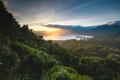 beautiful sunset over lake buyan bali indonesia - PhotoDune Item for Sale