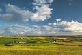 Irish countryside panorama. Green field, blue sky - PhotoDune Item for Sale