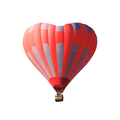 Red air balloon in the shape of a heart isolated on a white background - PhotoDune Item for Sale