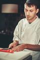 Preparing sashimi set in restaurant kitchen - PhotoDune Item for Sale