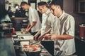 Preparing sushi set in restaurant kitchen - PhotoDune Item for Sale