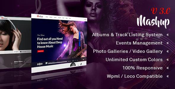 MashUp | Music WordPress Theme