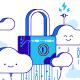 Security Cloud Storage Illustration - GraphicRiver Item for Sale