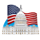 US Capitol and Flag - GraphicRiver Item for Sale