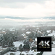 Aerial Pedestal View Of Snowy French Village And Mountains - VideoHive Item for Sale
