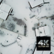 Aerial High Angle View Of Snowy French Village - VideoHive Item for Sale