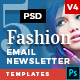 5 Fashion Email Newsletter PSD Templates v5 - GraphicRiver Item for Sale