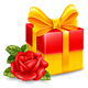 Gift Box And Rose - GraphicRiver Item for Sale
