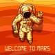 Astronaut on Mars Poster - GraphicRiver Item for Sale