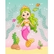 Mermaid Princess Underwater Among the Seaweed - GraphicRiver Item for Sale