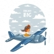 Airplane Boy - GraphicRiver Item for Sale