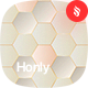 Honly - Hexagon Vector Backgrounds - GraphicRiver Item for Sale