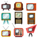 Television Vintage Vector Icon Set - GraphicRiver Item for Sale
