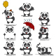 Panda Bear Vector Character Set - GraphicRiver Item for Sale