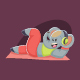 Elephant Working Out Fitness Vector Cartoon Illustration - GraphicRiver Item for Sale