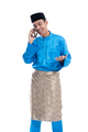 male muslim talk on his phone over white - PhotoDune Item for Sale