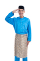 malaysian male with salute gesture over white background - PhotoDune Item for Sale