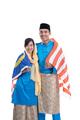 beautiful muslim couple with malay flag - PhotoDune Item for Sale