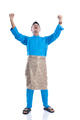 happy excited malay male raise his hand - PhotoDune Item for Sale