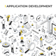 Application Development Isometric Banner Illustration - GraphicRiver Item for Sale