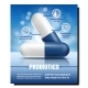 Probiotics Pills Creative Promotion Banner Vector - GraphicRiver Item for Sale