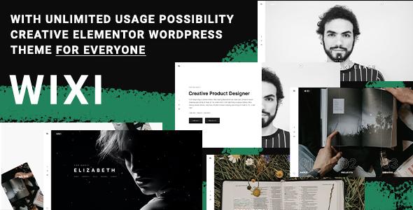 Wixi - Modern Elementor Portfolio WordPress Theme