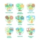 Food Eats Set Icons Vector Color Illustrations - GraphicRiver Item for Sale