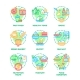 Food And Drink Set Icons Vector Illustrations - GraphicRiver Item for Sale