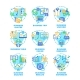 Business Plan Set Icons Vector Color Illustrations - GraphicRiver Item for Sale