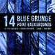 Blue Grunge Paint Backgrounds with Brush Strokes - GraphicRiver Item for Sale