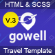 Gowell - Travel HTML Template - ThemeForest Item for Sale