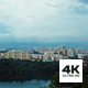Aerial View of Singapore Reservoir and Heartland in Evening - VideoHive Item for Sale
