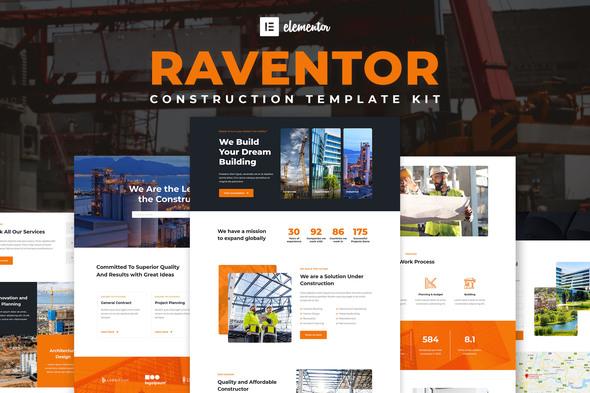 Raventor - Construction & Architecture Elementor Template Kit