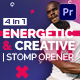 Energetic And Creative | Stomp Opener | Mogrt - VideoHive Item for Sale