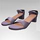Round-Toe Block-Heel Sandals 01 - 3DOcean Item for Sale