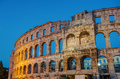 Detail of the Pula Arena at night - PhotoDune Item for Sale