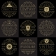 Luxury Logo Templates Set in Vintage Style - GraphicRiver Item for Sale