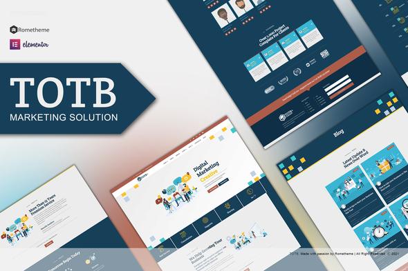 TOTB - Marketing Solution Elementor Template kit