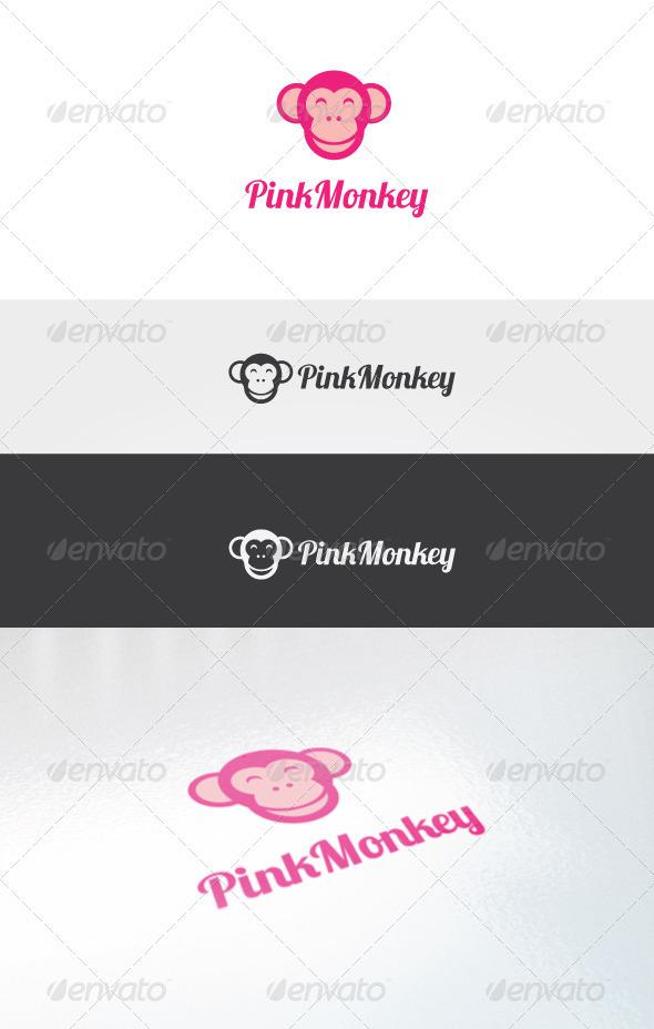 Pink Monkey Logo Template