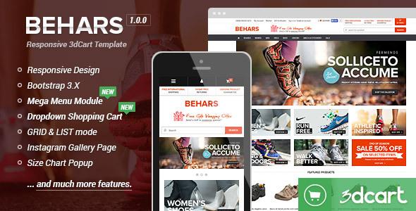Behars - Responsive 3dCart Template (Core)