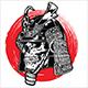 Samurai Warrior Skull - GraphicRiver Item for Sale